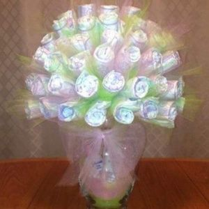 Diaper Bouquet for baby shower
